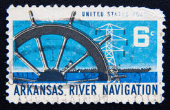 Arkansas River Navigation, USA circa 1968 Royalty Free Stock Image