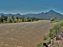 Arkansas River near Salida, Colorado. The Arkansas River just east of the town of Salida in southern Colorado Stock Photography