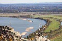 Arkansas River from Petit Jean Mountain Stock Photos