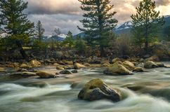 Arkansas River. Raging river waters in Colorado Stock Images