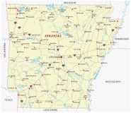 Arkansas road map Royalty Free Stock Photos