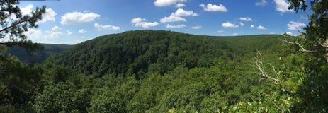 Arkansas Rolling Hills Panorama Royalty Free Stock Images