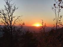 Arkansas solnedgång Arkivbild