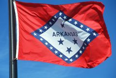 Arkansas stan Flaga Obraz Royalty Free