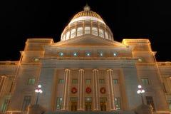 Arkansas stanu Capitol powierzchowność przy bożymi narodzeniami Zdjęcia Stock