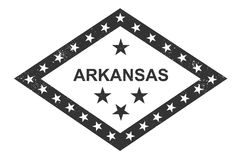 Arkansas stanu symboliczna flaga Momochrome wektoru ilustracja royalty ilustracja