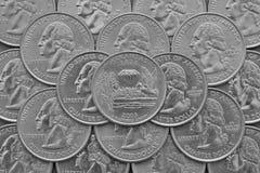 Arkansas stat och mynt av USA Royaltyfri Fotografi