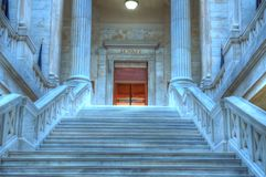Arkansas State Capital. Marble steps leading to the state senate chambers Royalty Free Stock Images