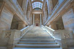 Arkansas State Capital. Marble steps leading to the state house of representatives Stock Image