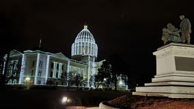 Arkansas State Capitol Holiday Lights royalty free stock images