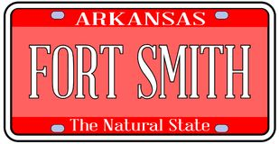 Arkansas State License Plate With The City Fort Smith Royalty Free Stock Image