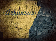 Arkansas state map Stock Images