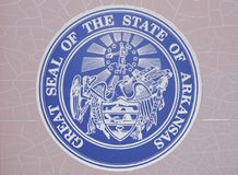 Arkansas State Seal. Arkansas is a state in the southeastern region of the United States, home to over 3 million people as of 2017. Its name is of Siouan Stock Photography