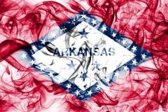 Arkansas state smoke flag, United States Of America. On a white background stock image