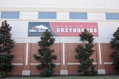 Arkansas State University Mid-South Greyhounds. Home of the Greyhounds of Arkansas State University Mid-South, located in West Memphis, Arkansas Stock Images