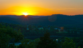 Arkansas Sunset Eureka Springs Ozarks Royalty Free Stock Photography