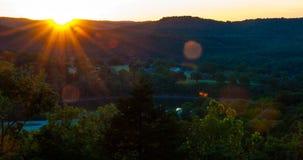Arkansas zmierzchu Eureka wiosny Ozarks Zdjęcia Stock