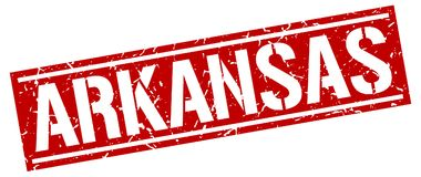 Arkansas znaczek Zdjęcie Stock