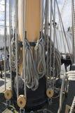Arkany na statku maszcie Zdjęcia Royalty Free