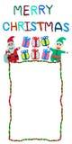 Arkany rabatowa kartka bożonarodzeniowa robić od plasteliny Zdjęcia Stock