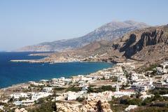Arkasa村庄,喀帕苏斯岛海岛-希腊 库存图片