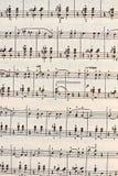 Arkbakgrund för musikaliska anmärkningar Royaltyfria Foton