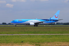 Arke Boeing 737 on take-off run Stock Photo