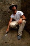arkeolog Arkivfoton
