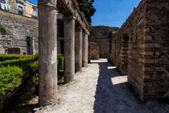 Arkeologiområde av Ercolano Royaltyfri Fotografi