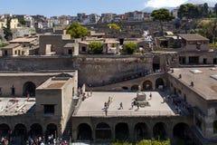 Arkeologiområde av Ercolano Royaltyfri Foto