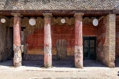 Arkeologiområde av Ercolano Royaltyfria Bilder