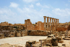 arkeologiområde cyprus nära paphos Royaltyfria Foton
