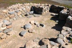Arkeologiplats i kanariefågelöar Arkivfoton