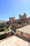 Arkeologisk borggård för Jerusalem citadell Royaltyfri Bild