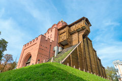Arkeologisk monument för guld- port i Kiev, Ukraina Royaltyfri Bild
