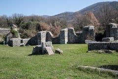 Arkeologisk plats av Carsulae i Italien Fotografering för Bildbyråer