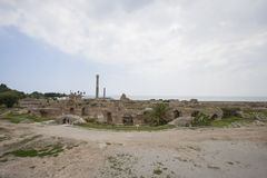 Arkeologisk plats av Carthage, Antonine Thermae, Tunis, Tunisien Arkivbild