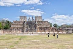 Arkeologisk plats av Chichen Itza Arkivfoton