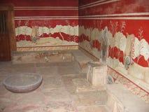 Arkeologisk plats av den Knossos Kreta Grekland royaltyfri foto