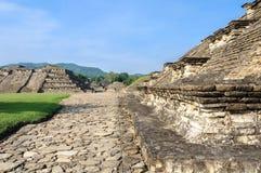 Arkeologisk plats av El Tajin, Veracruz, Mexico Arkivfoton