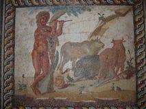 Arkeologisk plats av forntida Corinth Peloponnese Grekland Royaltyfri Foto