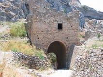 Arkeologisk plats av forntida Corinth Peloponnese Grekland Royaltyfri Fotografi