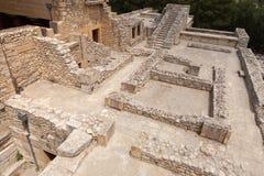 Arkeologisk plats av Knossos Arkivbild