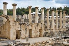 Arkeologisk plats, Beit Shean, Israel Arkivfoton