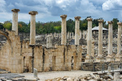 Arkeologisk plats, Beit Shean, Israel Fotografering för Bildbyråer