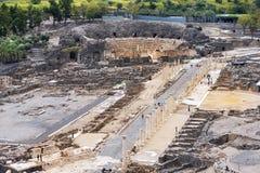 Arkeologisk plats, Beit Shean, Israel Royaltyfria Bilder