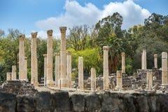 Arkeologisk plats, Beit Shean, Israel Royaltyfri Fotografi