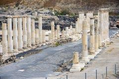 Arkeologisk plats, Beit Shean, Israel Arkivbild