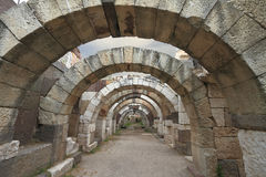 Arkeologisk plats i Izmir, Turkiet Royaltyfria Foton