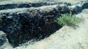 Arkeologisk plats: Ixtépete Guadalajara arkivbild